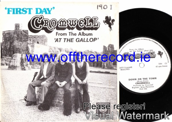 Cromwell - First Day - 1975 Picture Sleeve